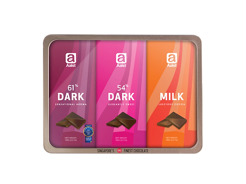 Aalst Assortment Collection  (61%, 54%, Milk) Bar 300g
