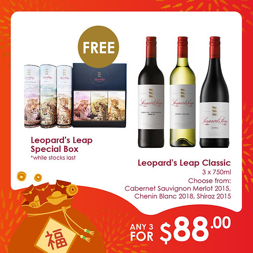 3 Leopard's Leap for $88 + Special Box