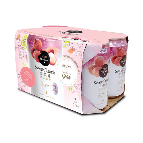 TTL Sweet Touch Lychee Fruit Beer 6's x330ml, Alc. 3.5%