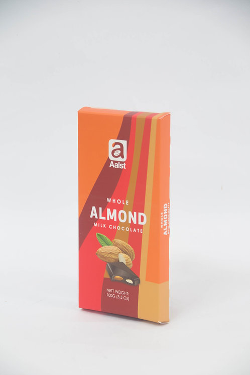 Aalst Whole Almond Milk Chocolate Bar 100g
