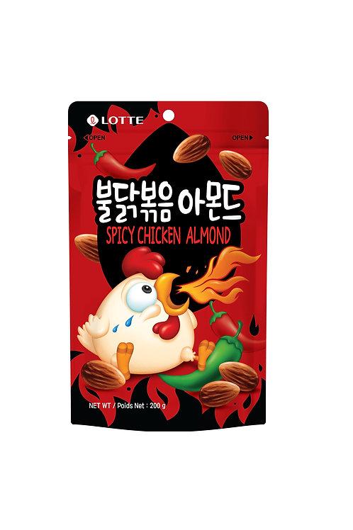 Lotte Spicy Chicken Almond 200g