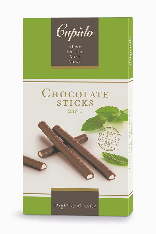 Cupido Chocolate Mint Sticks 125g