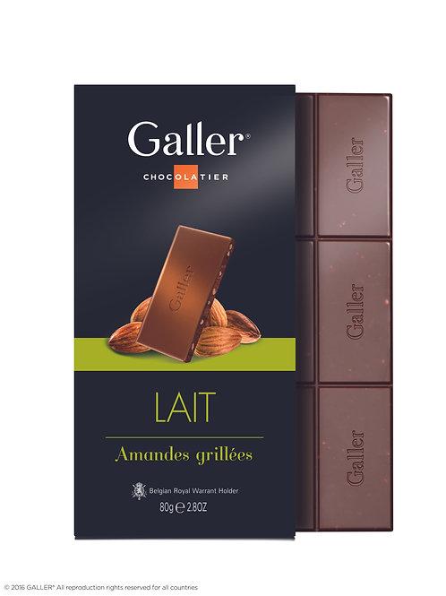 Galler Tablet Milk Chocolate Almond 80g