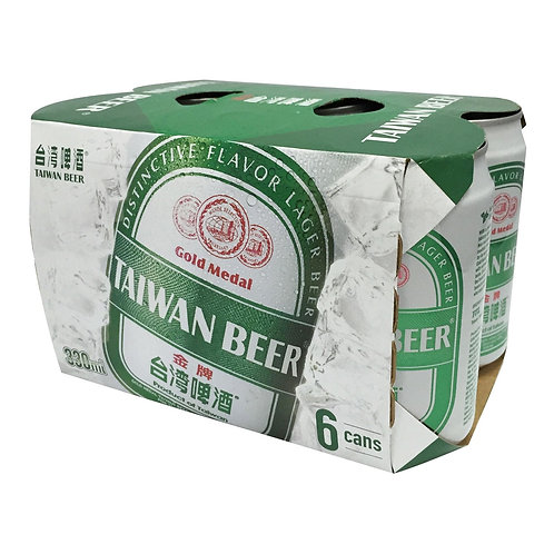 TTL Gold Medal Taiwan Beer (6's x 330ml), Alc. 5%
