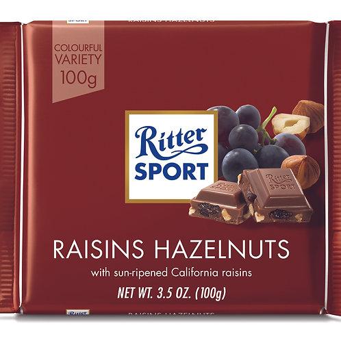 Ritter Sport Raisins & Hazelnuts 100g