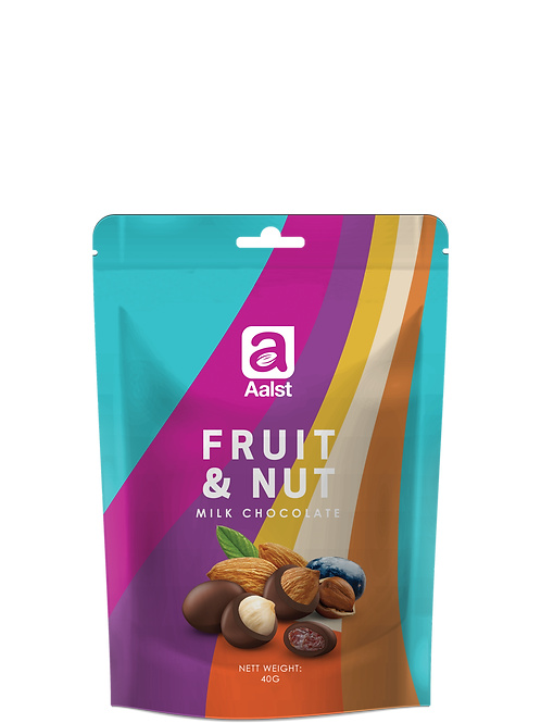 Aalst Whole Fruit & Nuts Milk Chocolate Doypack 40g