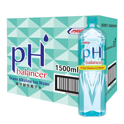 pH Balancer Ocean Alkaline Ion Water 12x1500ml