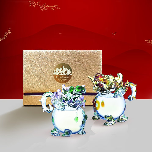 Cristallove Auspicious Pi Xiu Pair (Treasure)