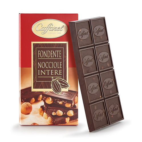 Caffarel Dark With Whole Hazelnuts Bar 150g (79829)