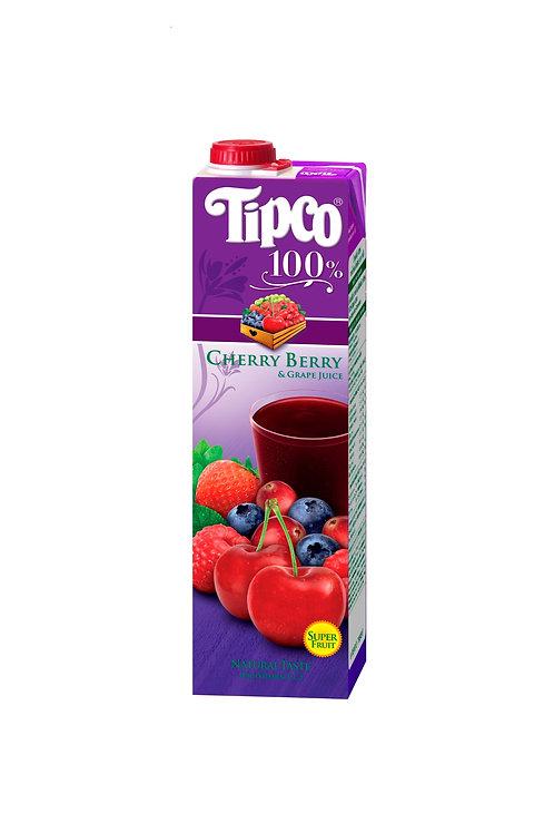 Tipco 100% Cherry Berry & Grape Fruit Juice 1L