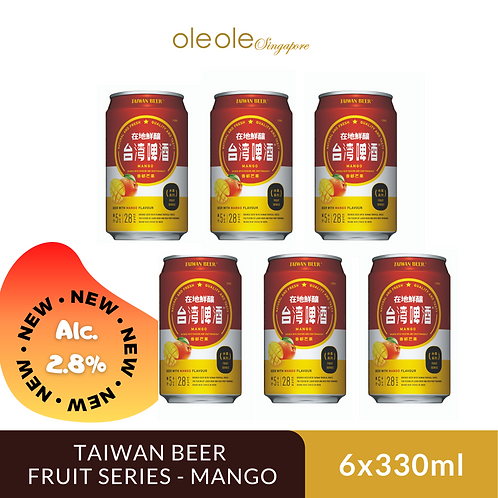 Taiwan Beer Fruit Series Mango 6's x 330ml, Alc. 2.8%