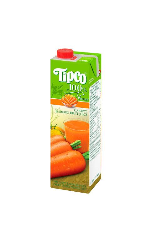 Tipco 100% Carrot Mixed Fruit Juice 1L
