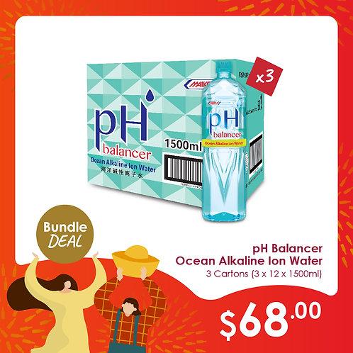 pH Balancer Ocean Alkaline Ion Water (12x1500ml) x 3