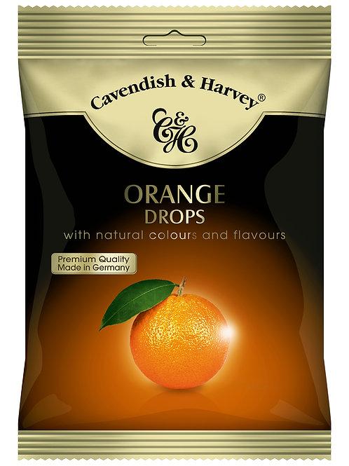 C&H Sour Orange Drops 100g (Suitable for Vegetarians)
