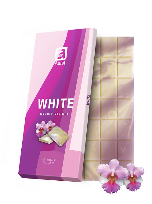 Aalst White Chocolate Orchid Bar 100g
