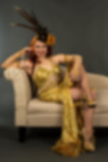 Saturday night Lushes gold costume.jpg