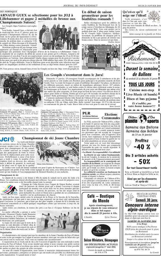 Journal du Pays dEnhaut - Article du 21.