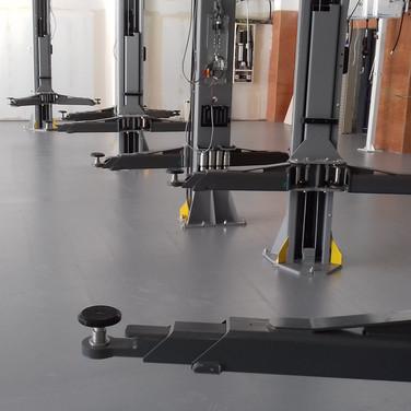 Polyurethane UV resistant coating installed for a garage workshop in Nursling