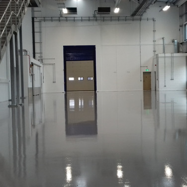 High build epoxy floor coating installed in Oxford