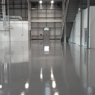 Mid grey epoxy coating installed after diamond grinding