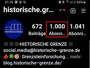 1000 Follower bei Instagram