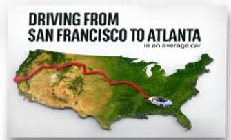 4 One ton CO2E Driving SanFran to Atlant