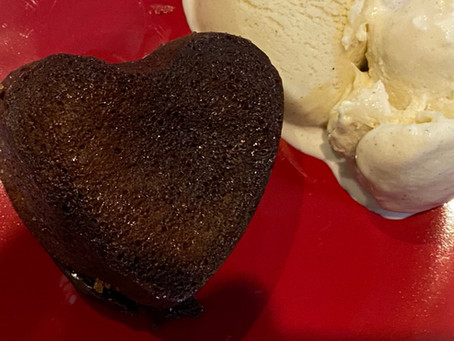 Chocolate Melting Heart Lava Cake