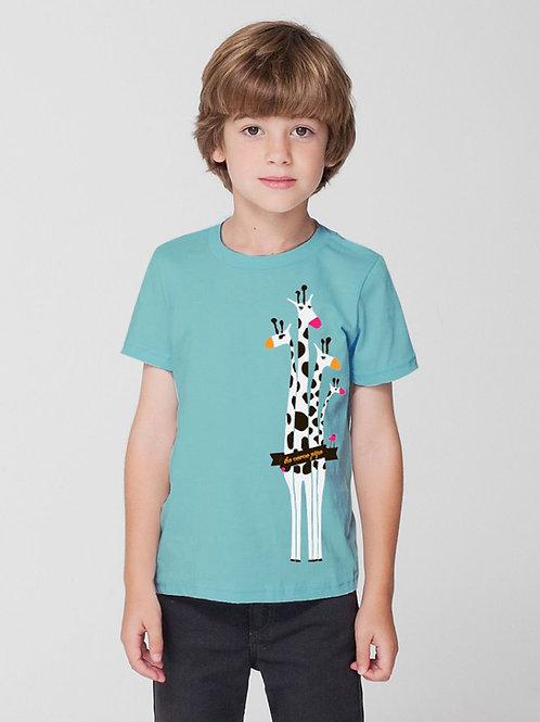 Kid's Giraffe T — Aqua