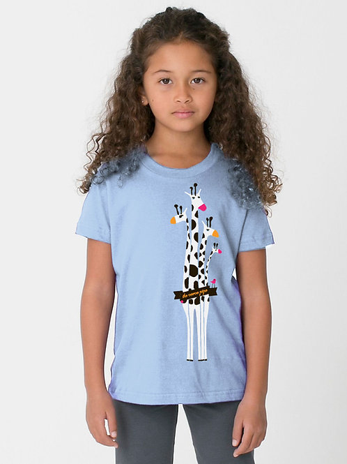 Kid's Giraffe T — Blue