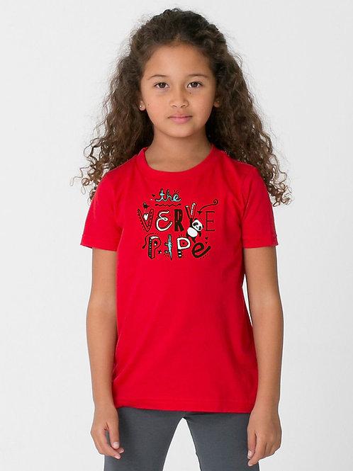 Kid's Hanging Panda T — Red