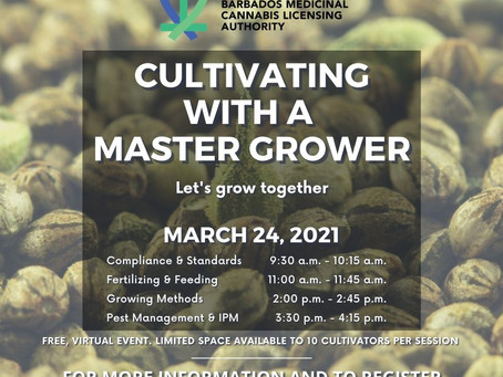 Master Grower sessions coming up