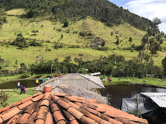Village in Colombian countryside