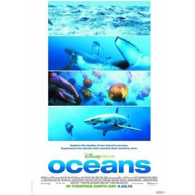 Foto do documentário Oceans mostrando alguns animais embaixo d'água.