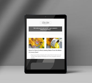 Crash Jewelry Virtual Sip & Shop Eblast Design