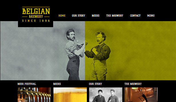 Bar og klubb website templates – Bryggeri