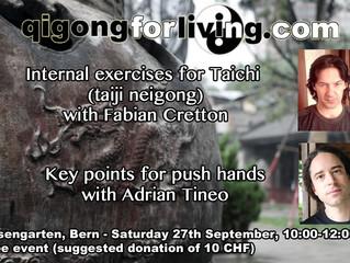 Stage donné à Bern - Qigong For Living - 27 septembre 2014