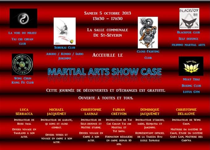 Programme du Martial Art Show Case