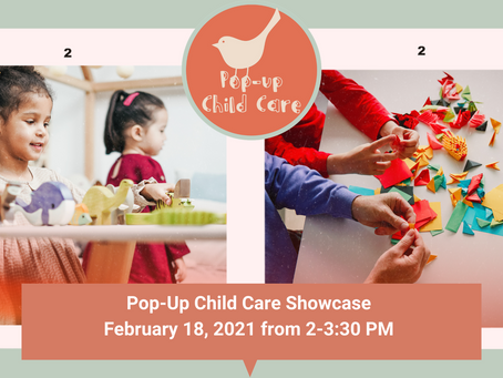 Invitation to the Pop-Up Child Care Showcase