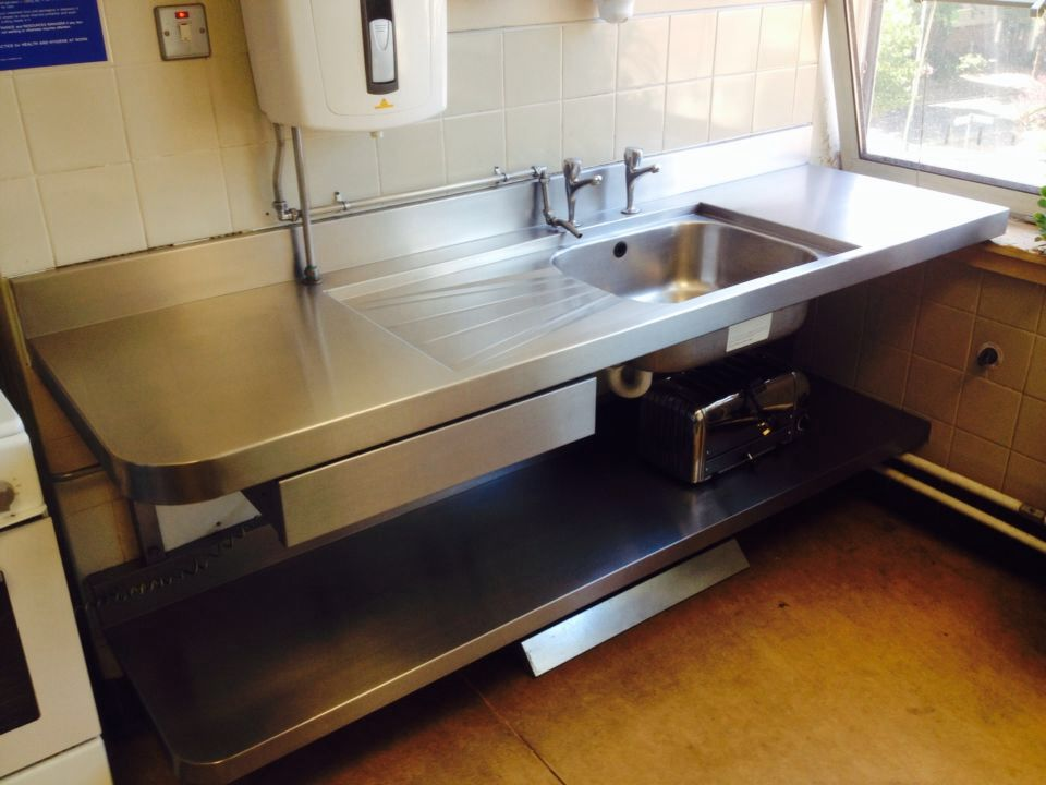 Stainless steel sink-After