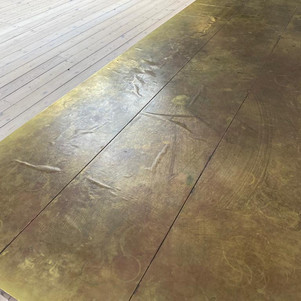 Brass table-Before