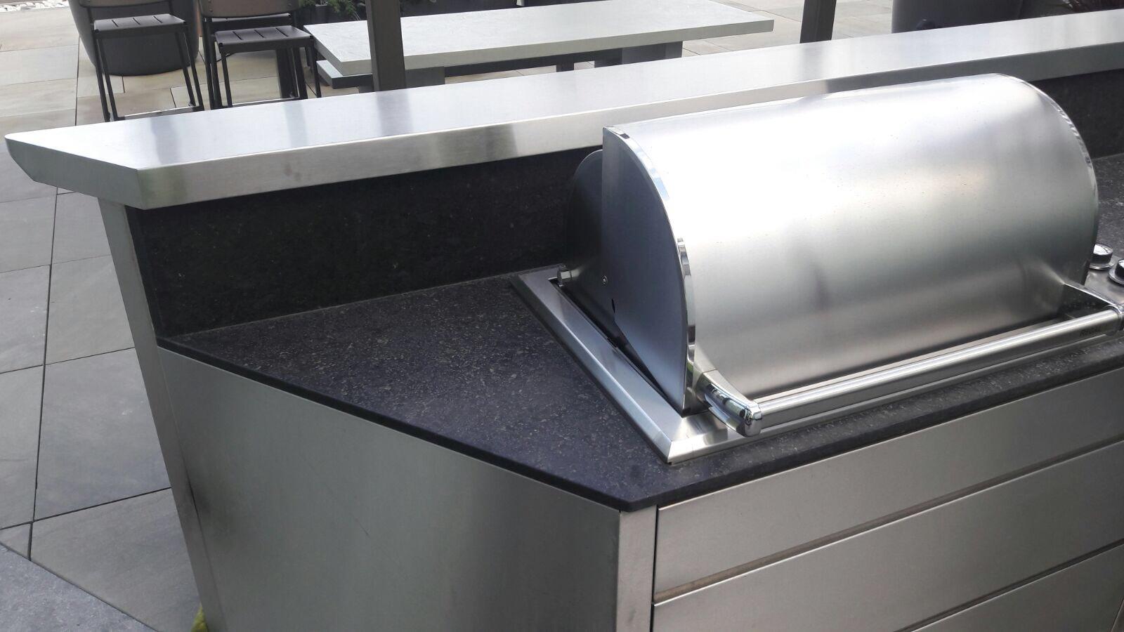 Outdoor kitchen cooker hood- before