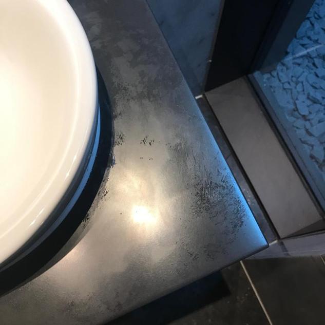 Corian bathroom sink-Before