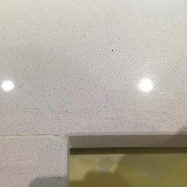 Damaged worktop-Before