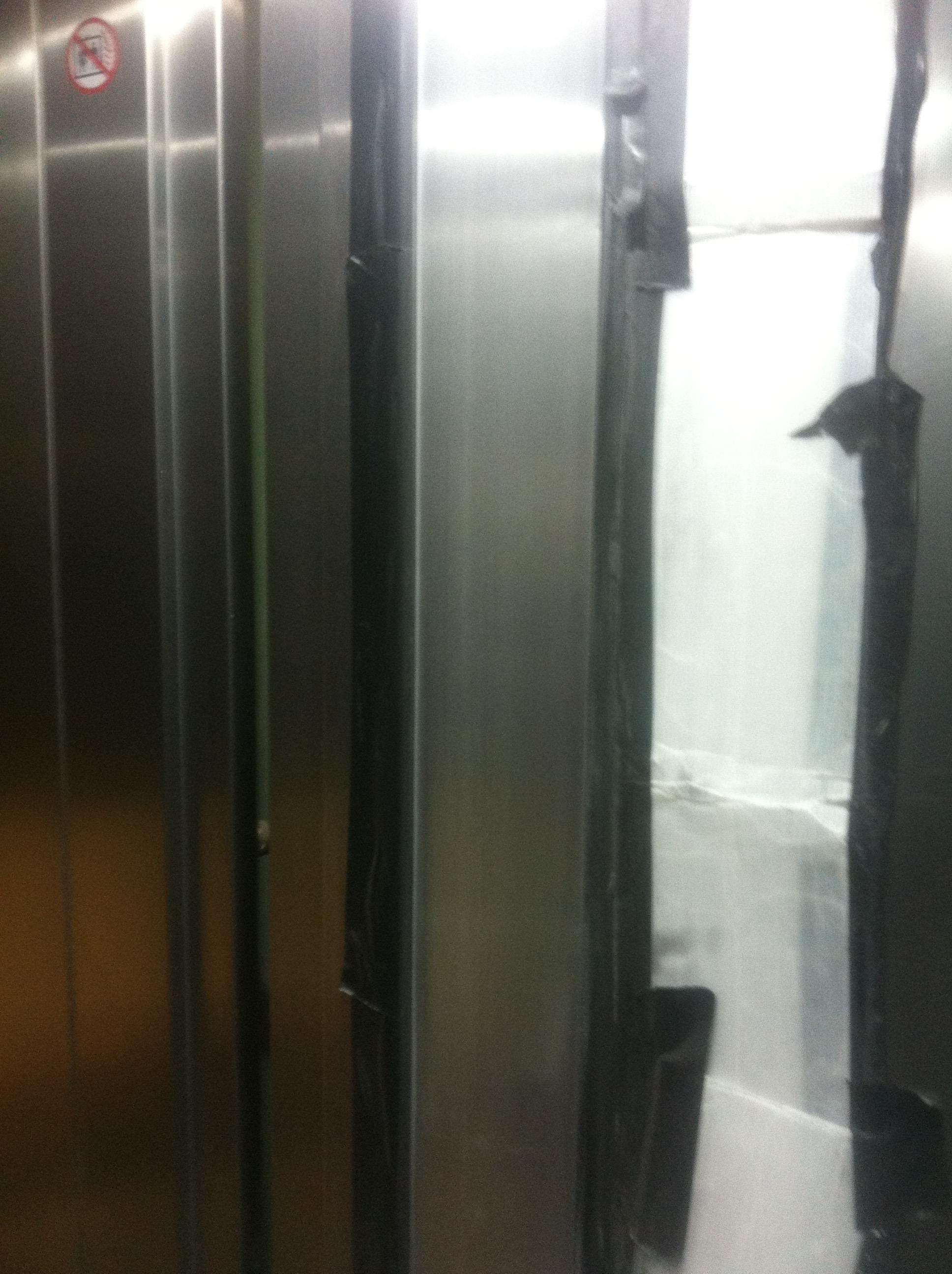 Damaged lift- After