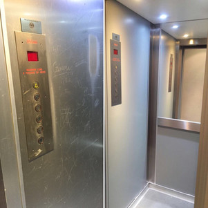 Internal lift car-Before and after