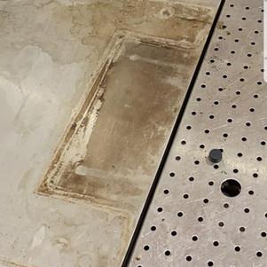Stainless steel worktop-Before