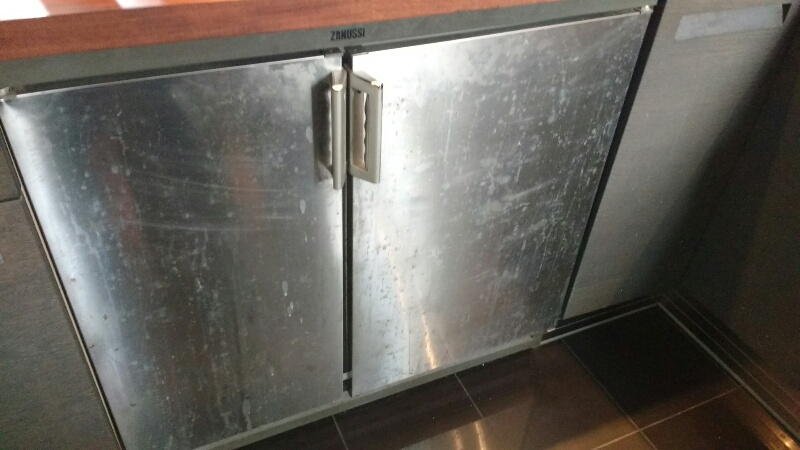 Stainless Steel Fridge - Before