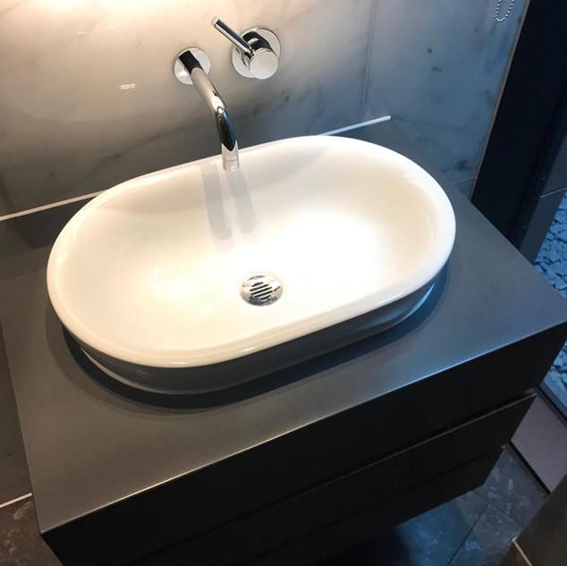Corian sink surround-After