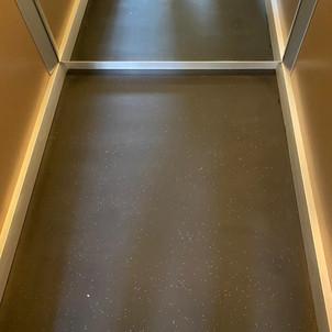 Internal lift car floor-After