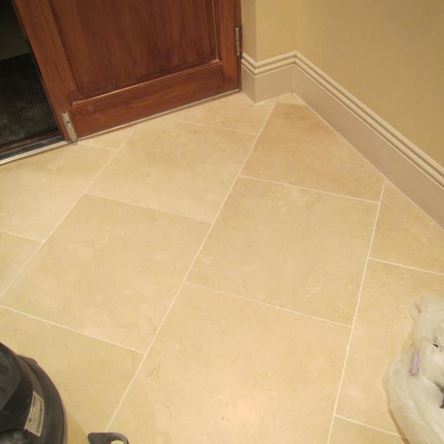 Stone floor-Before
